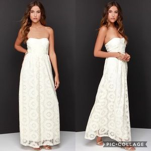 Lulu's No Less Than Flawless Lace Maxi Dress